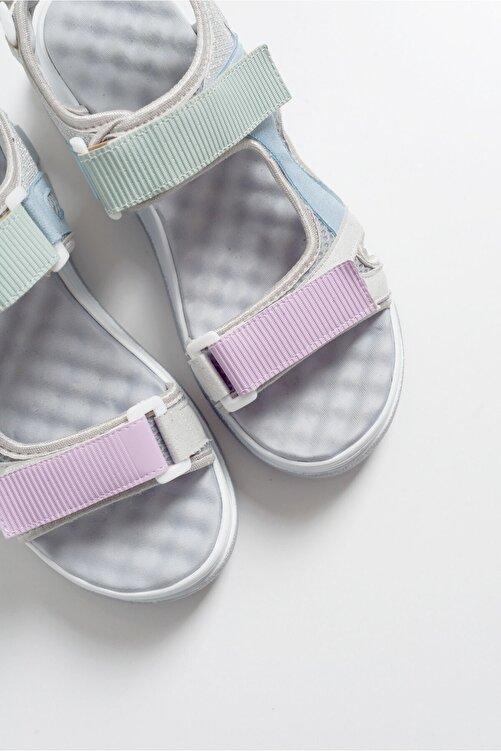 LuviShoes Kadın Gri Sandalet 4740 2