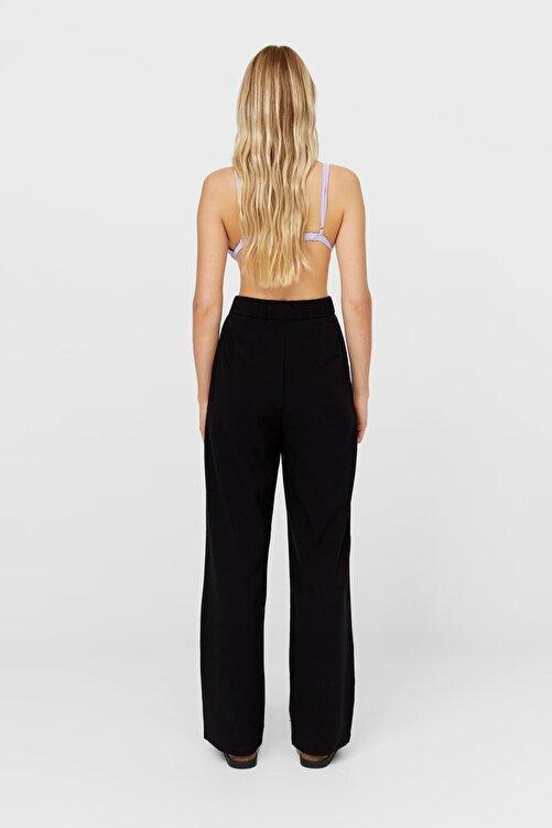 Stradivarius Kadın Siyah Straight Fit Pantolon 04562692 2