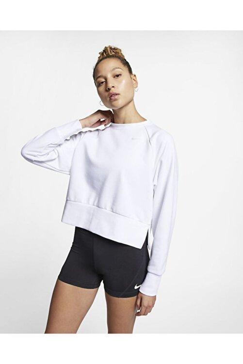 Nike Women's Crew Drı-fıt Kısa Kesim Sweatshirt Cq0069-100 1