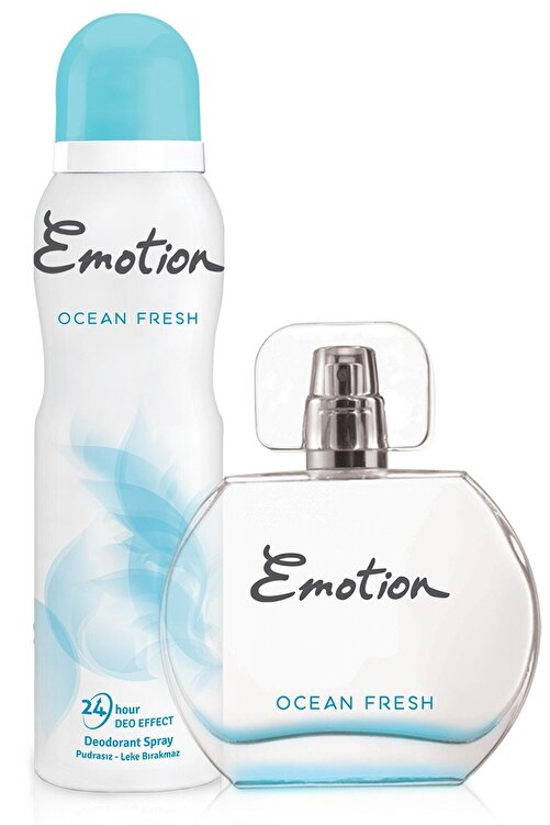 Emotion Ocean Fresh Edt 50 Ml + 150 Ml Deodorant Kadın Parfüm Seti 8690586016667 2
