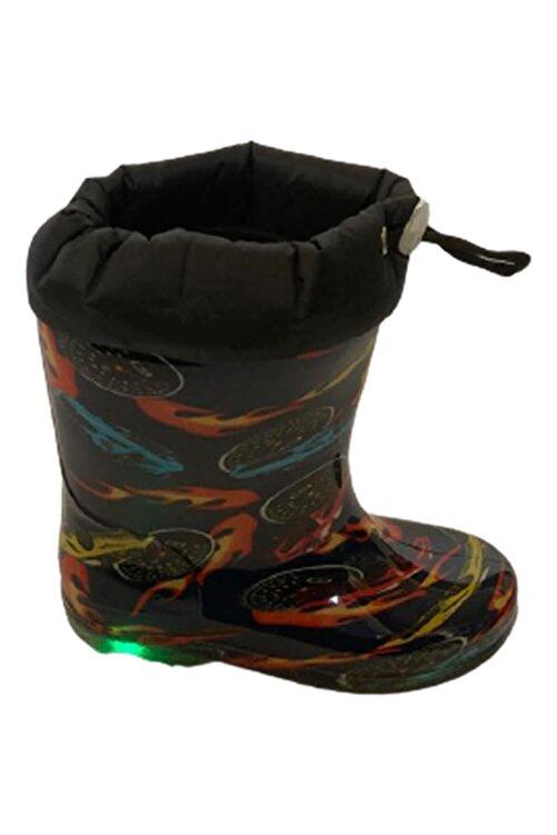 Savana Erkek Çocuk Lacivert Işıklı Su Geçirmez Yağmur Çizmesi 2