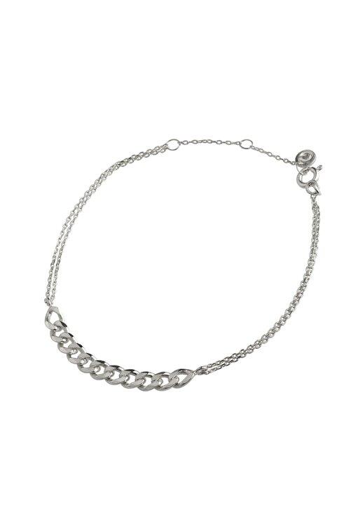 Gimora Retro Zincir Gümüş Bileklik 1