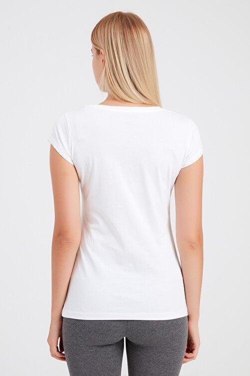 New Balance Kadın T-Shirt - NB VOM TEE - V-WTT918-WT 2