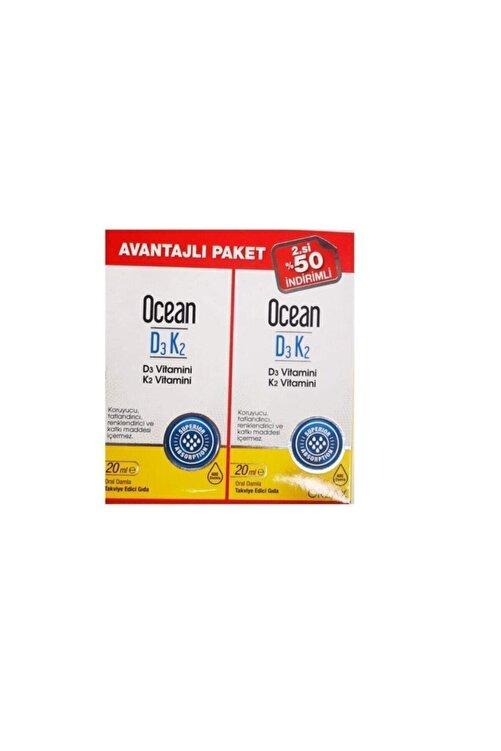 Ocean Ocean Vitamin D3k2 Damla 20 Ml 2'li Avantaj Paket 1