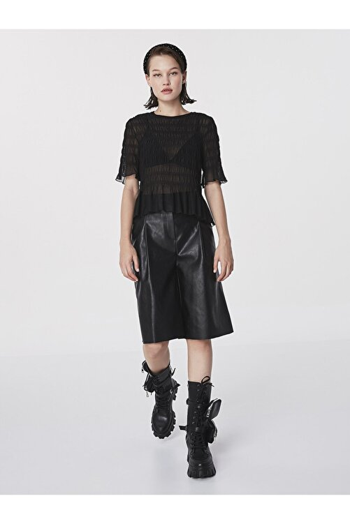 Twist Büzgülü Transparan Bluz 2