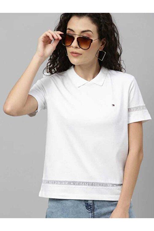 Tommy Hilfiger Dantel Detaylı Polo Yaka Tshirt 1