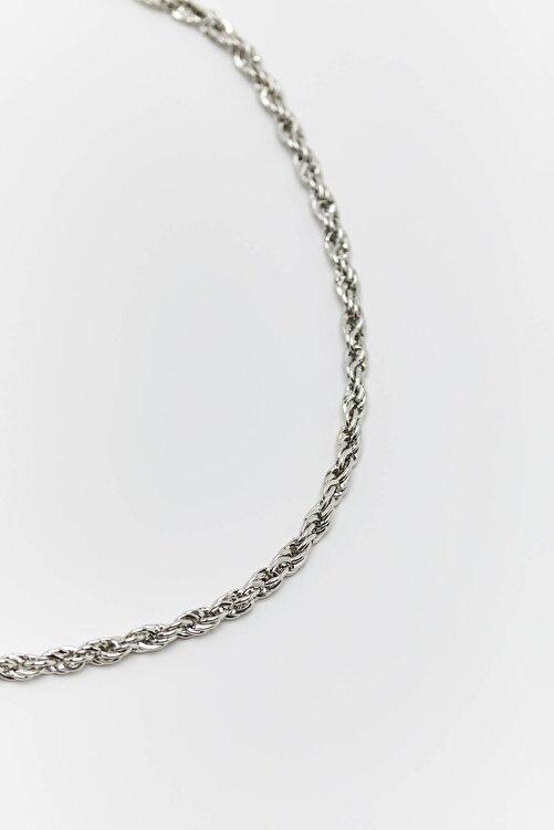 Pull & Bear Basic Gümüş Rengi Zincir 2