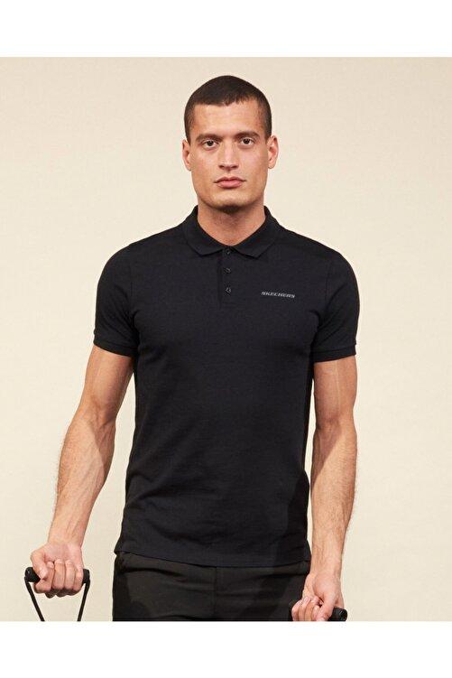 SKECHERS Polo M Short Sleeve Polo Erkek Siyah Polo Yaka Tshirt 2