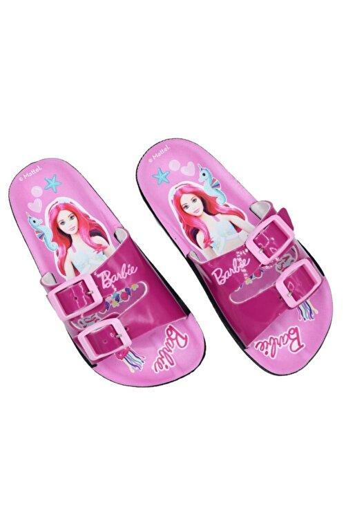 Barbie Kız Çocuk Fuşya Pembe Terlik 2