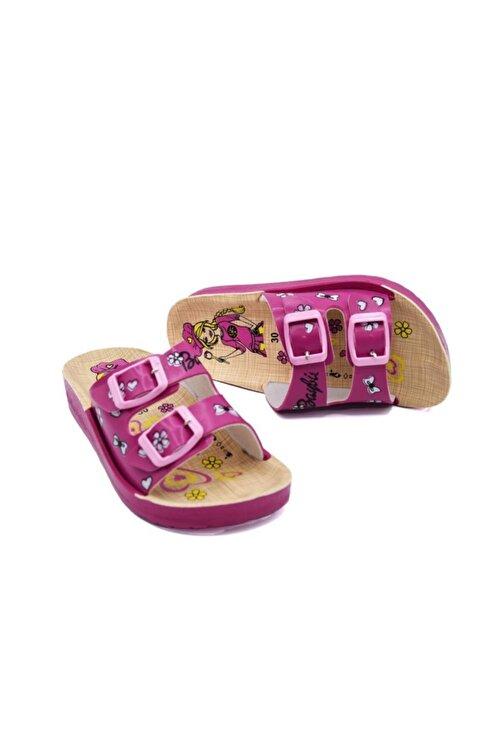 Barbie Kız Çocuk Fuşya Terlik 1