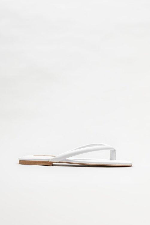 Elle Shoes Beyaz Kadın Parmakarası Terlik 1