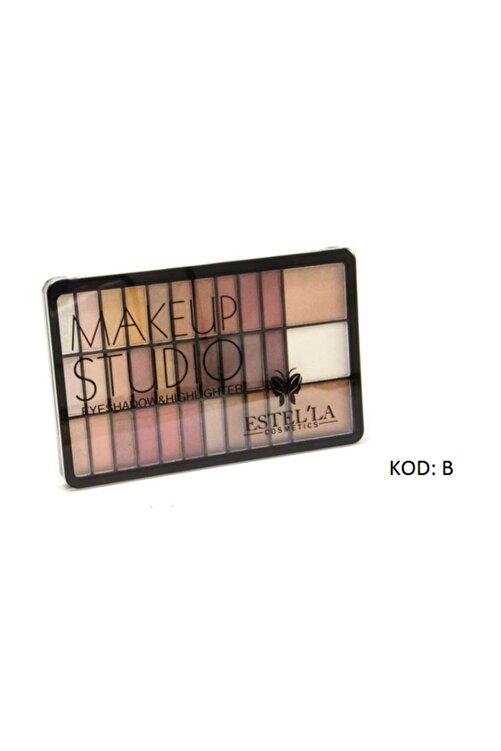 Estella Make Up Studıo 30 Lu Far+3lü Highligter Palet B Paketi 2