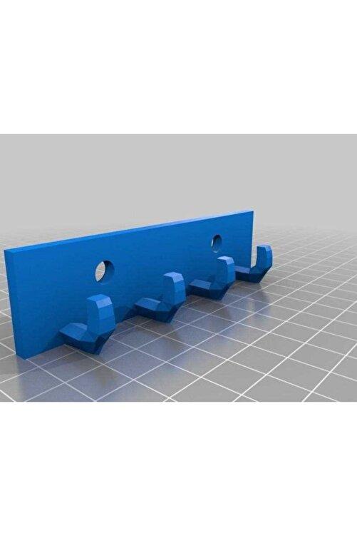 BCA Anahtar Kancası Dekoratif Organik Plastikten Aparat Organizer Mavi 1