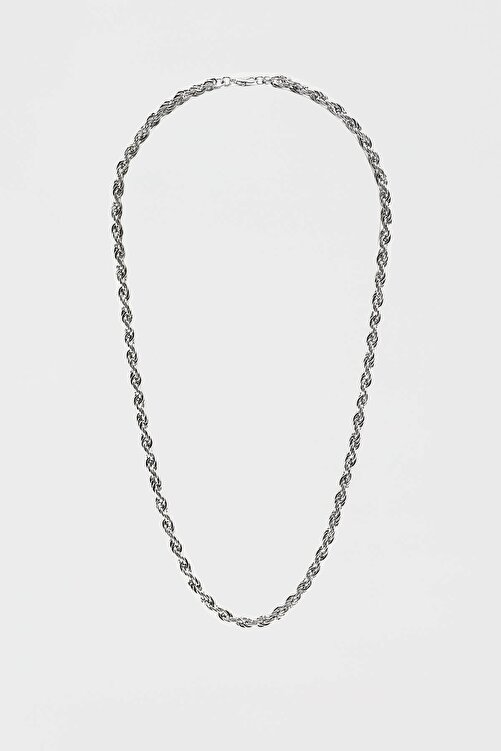 Pull & Bear Basic Gümüş Rengi Zincir 1