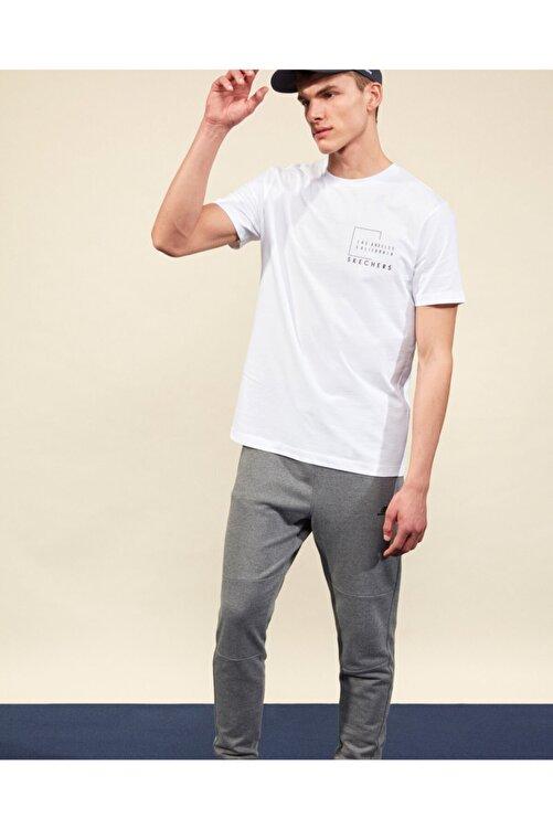 SKECHERS Graphic Tee M Crew Neck T-Shirt Erkek Beyaz Tshirt 1
