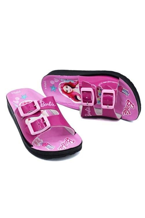 Barbie Kız Çocuk Fuşya Pembe Terlik 1