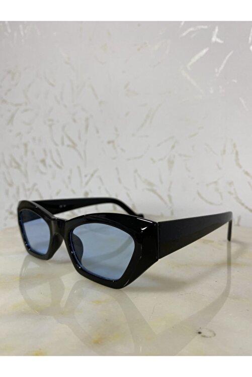 LOOKUP Kadın Mavi Siyah Retro Cat Eye Güneş Gözlüğü Zvhrk-2136 2