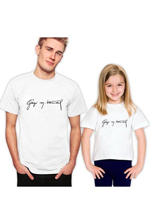 Coutoo Babalar Günü Özel Baba Oğul Gazi M. Kemal Baskılı T-shirt Kombin 2