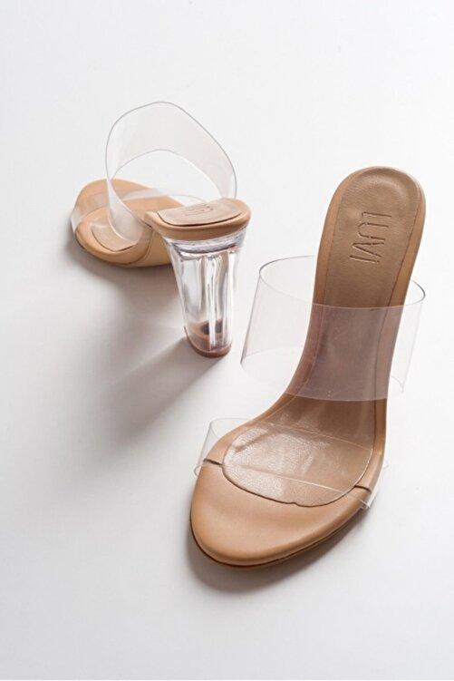 LuviShoes T3ten Şeffaf Çiftbant Yüksek Ökçeli Kadın Terlik 1