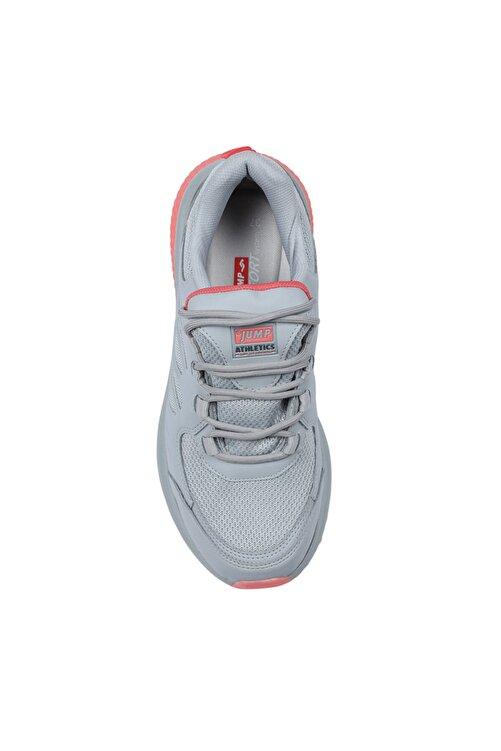 Jump 25740 Gri - Somon Pembe Su Geçirmez Kadın Spor Ayakkabı 2