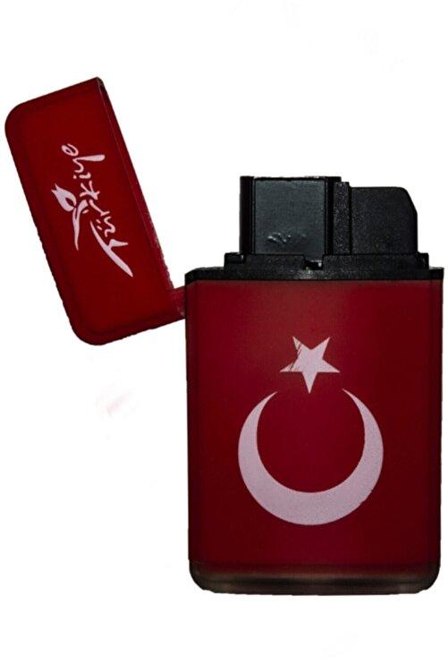 Hunter Çift Pürmüz Alev Mat Renk Çakmak Türk Bayrağı 1