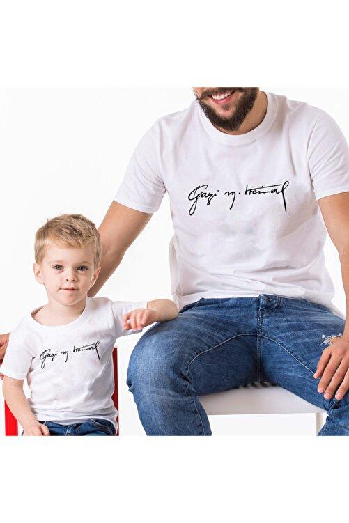 Coutoo Babalar Günü Özel Baba Oğul Gazi M. Kemal Baskılı T-shirt Kombin 1