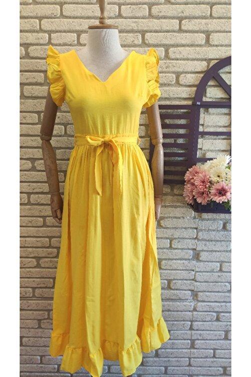 Trendusfashion Dokuma Poplin Kumaş Elbise 120cm 1