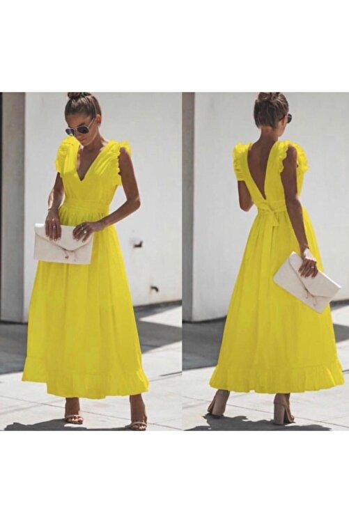 Trendusfashion Dokuma Poplin Kumaş Elbise 120cm 2