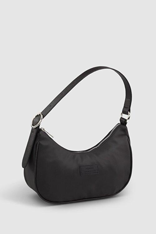 Housebags Kadın Tokalı Siyah Baguette Çanta 207 1