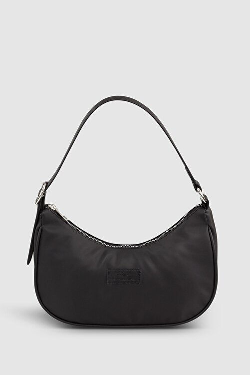 Housebags Kadın Tokalı Siyah Baguette Çanta 207 2