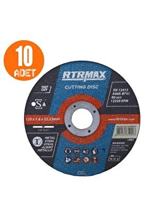 Rtrmax 10 Adet Inox Metal Kesici Taş Diski 125x1.6 Mm Spiral Avuç Içi Taşlama 2
