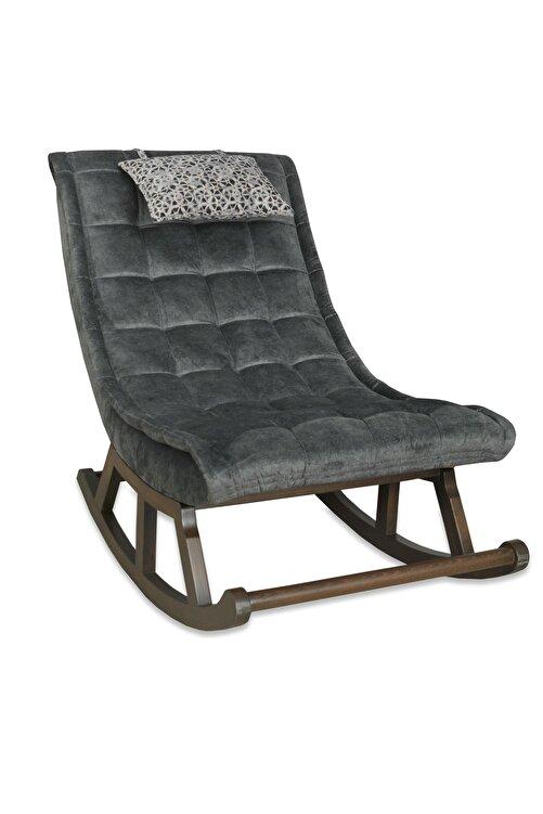 Asedia Teksas Ceviz-Gri Miskin Sallanan Sandalye 2