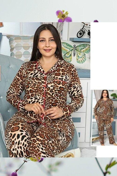 HAPPY NIGHT FASHION Kadın Large Sıze Pajamas Set 1