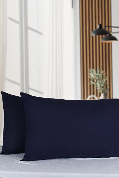 Makteks Home %100 Pamuklu 4'lü Yastık Kılıfı 50×70cm Lacivert 1