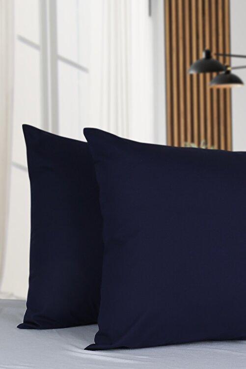 Makteks Home %100 Pamuklu 4'lü Yastık Kılıfı 50×70cm Lacivert 2
