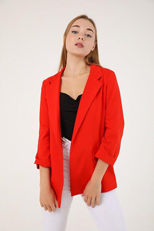 polo angels Kadın Astarsız Ceket Kırmızı 2