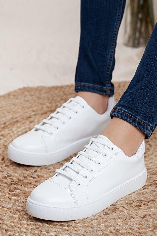 Odal Shoes Unisex Beyaz Sneaker 1