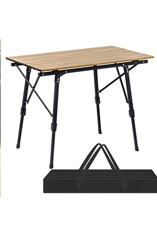 Funky Chairs Elite Xl Alüminyum Teleskopik Ayaklı Kamp Piknik Masası - Ahşap Desen 1