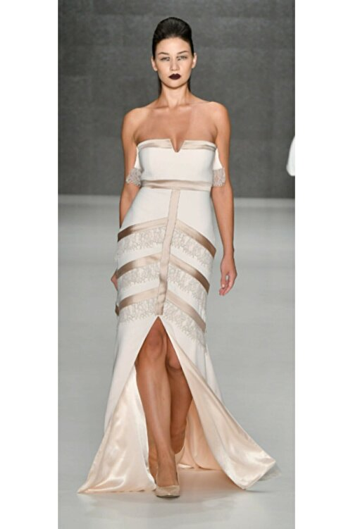 MERT ERKAN Jenny Krep Uzun Elbise 2
