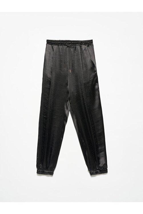 Dilvin 4820 Deri Bağcıklı Pantolon Siyah 1