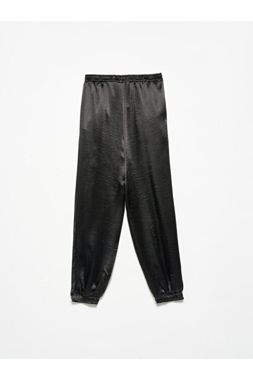 Dilvin 4820 Deri Bağcıklı Pantolon Siyah 2