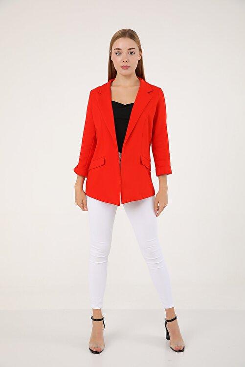 polo angels Kadın Astarsız Ceket Kırmızı 1