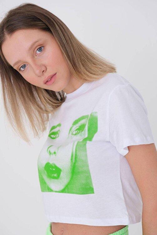Addax Baskılı Kısa T-shirt P9630 - U6 2