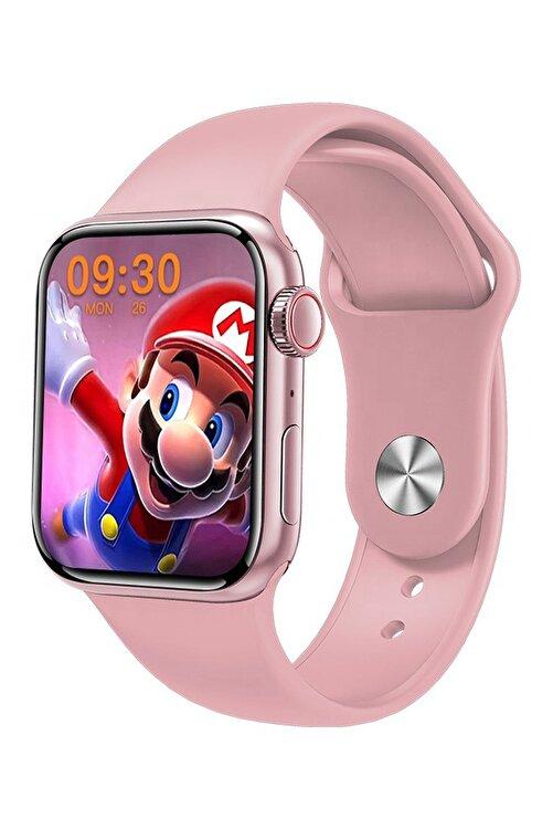 Favors Huawei P30 Lite, P30 Pro Uyumlu Watch 7 Series M26+ Plus Pembe Akıllı Saat Güçlendirilmiş Pil 2