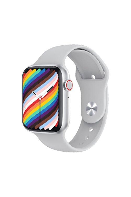 Black Dice Iphone ve Android Uyumlu Watch 7 Plus Son Nesil Gümüş Yan Düğme İleri Geri ve Yakınlaştırma Aktif 1
