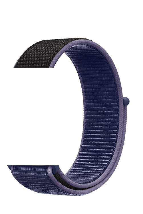 Robotekno Mavi Siyah Apple Watch Dokuma Kordon Kayış - 38mm 40mm 1