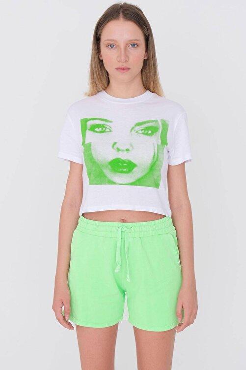 Addax Baskılı Kısa T-shirt P9630 - U6 1