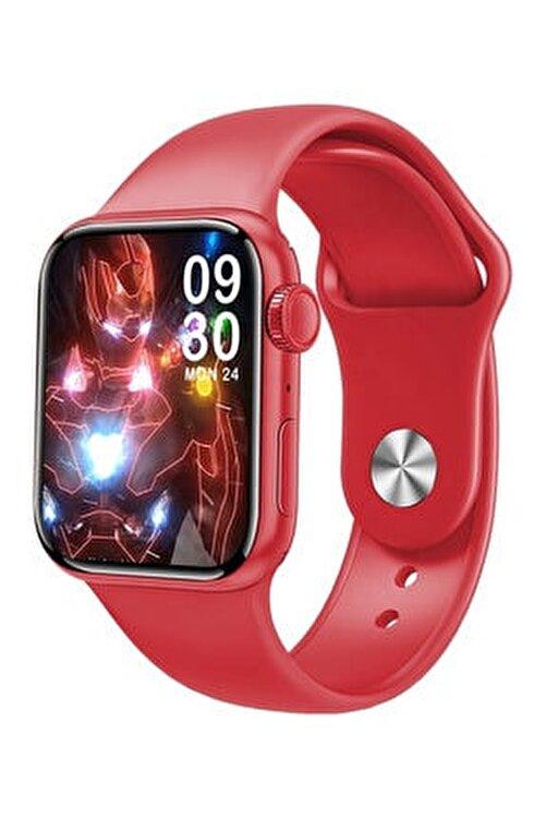 Favors Huawei P30 Lite, P30 Pro Uyumlu Watch 7 Series M26+ Plus Kırmızı Akıllı Saat Güçlendirilmiş Pil 2
