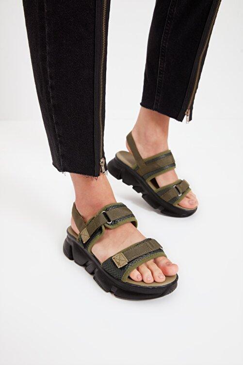 TRENDYOL SHOES Haki Kadın Sandalet TAKSS21SD0024 1