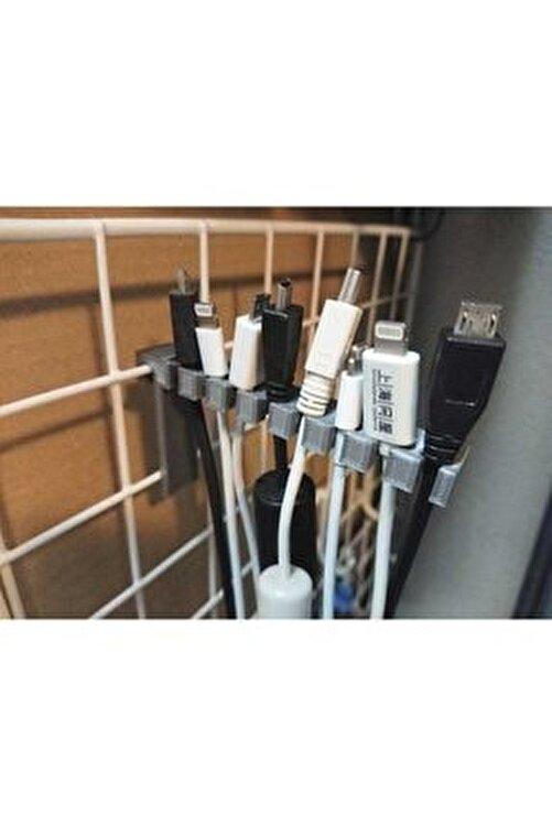 TeknoDuvar Kablo Tutucu Organik Plastikten Organizer Aparat Aksesuar Gri 1
